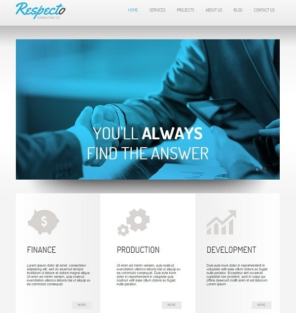 Business Consultancy Web Template: Consulting Website Templates For Your Business Efficiency