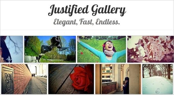 Justified Gallery Plugin