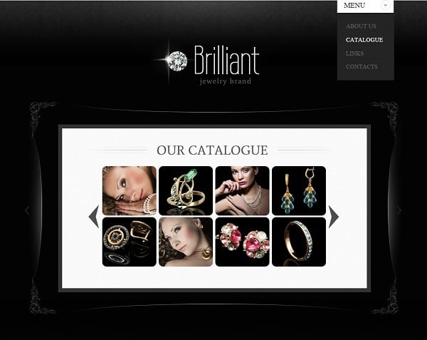 Website Template for Jewelry Store