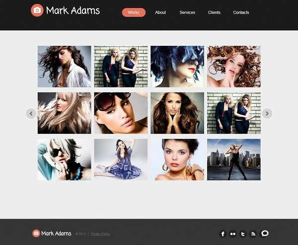 Portfolio Web Template with Grid Gallery