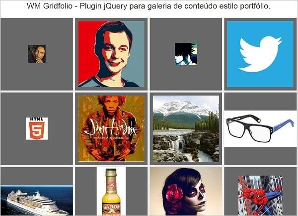 jQuery Grid Gallery Plugins - WM Gridfolio