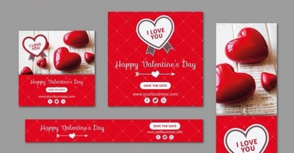 Valentine Banner Pack