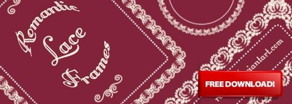 Romantic Lace Photoshop Brushes