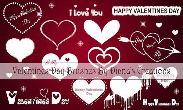 Valentine's Day Brushes