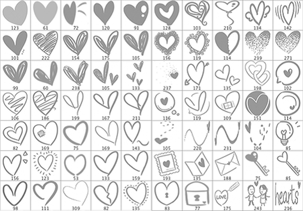 Valentines Day freebies - Love Doodles Brushes