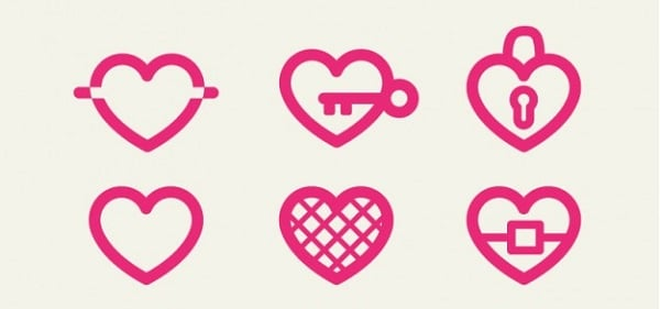 Valentines Day freebies - Heart Icons