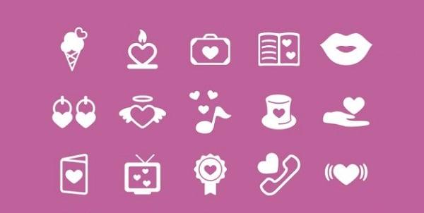 Romantic Valentine's Icons
