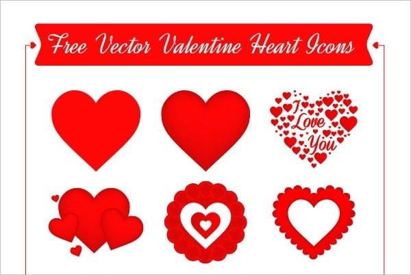 Valentine Heart Icon Set