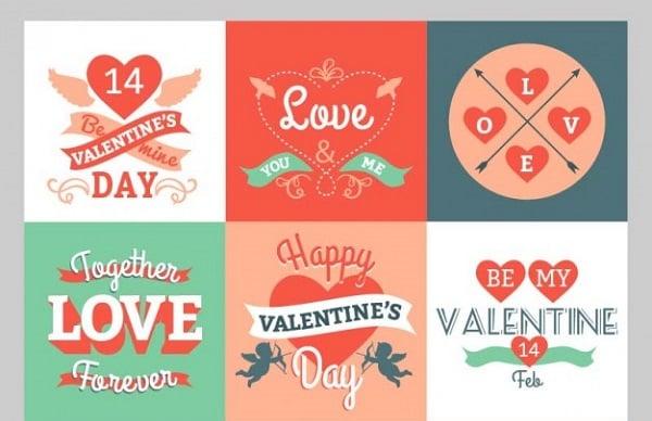 Valentines Day freebies - Valentine Greetings Pack