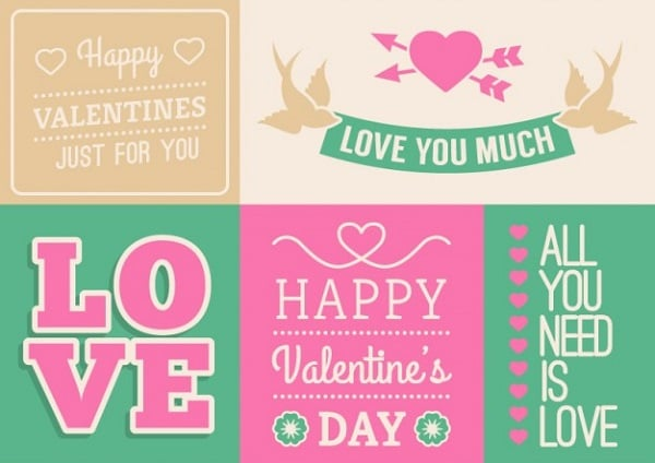 Valentine's Day Stationery Greetings