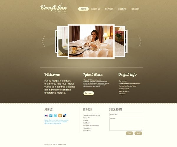 Building a Hotel Website - Nice Website Template for Hotel Business