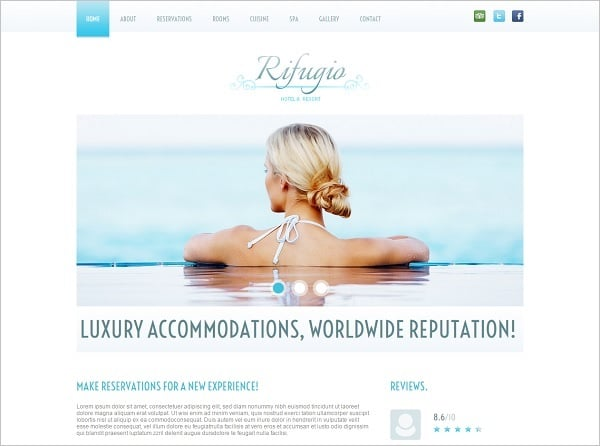 Building a Hotel Website - Hotel Website Template in Clean Style