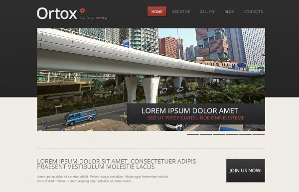Creating a Website for Your Construction Business - Contrasting Template