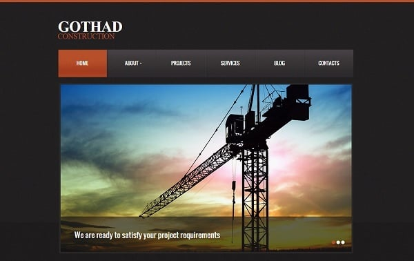 Creating a Website for Your Construction Business - Dark Template