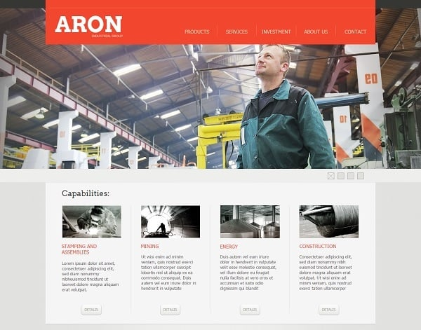 Creating a Website for Your Construction Business - Orange Template