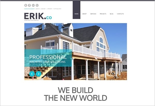 Creating a Website for Your Construction Business - White Template