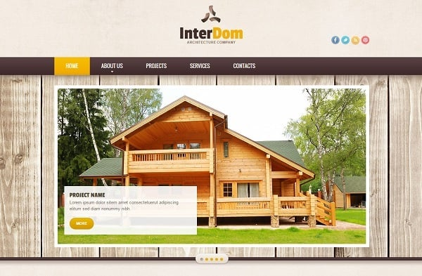 Creating a Website for Your Construction Business - Wooden Background