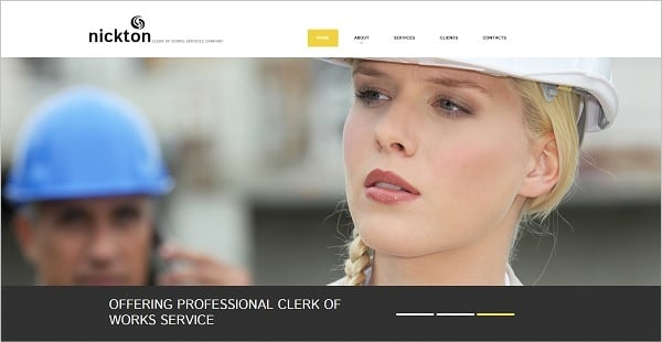 Creating a Website for Your Construction Business - Light-Colored Template