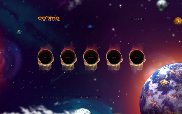 Futuristic Website Templates - Stunning Space-Themed Website Template