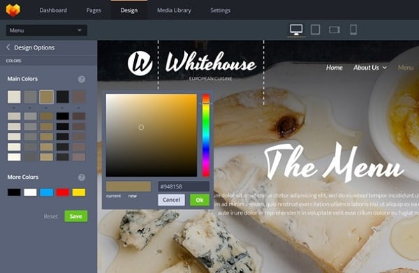 MotoCMS 3.0 Released - Color Picker