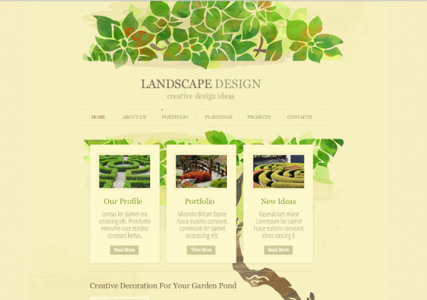 Garden Web Design Design Illustration Website Design Inspiration Catchy Look Secret