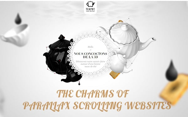 Parallax scrolling websites - main