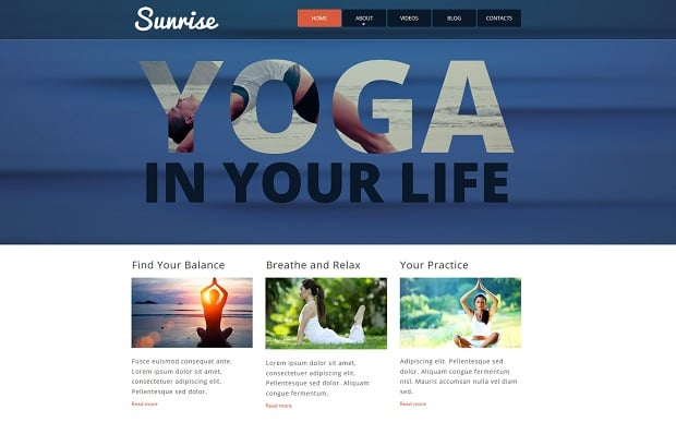 summer continues with motocms - yoga