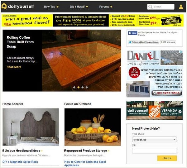 Optimize eCommerce site - Doityourself.com