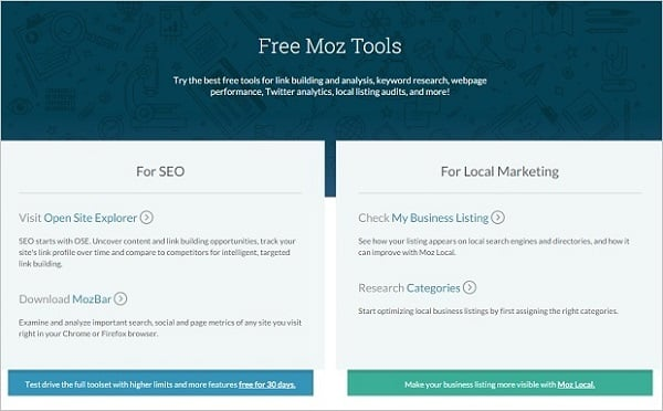 best SEO tools 2015 - moz