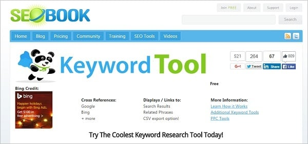 best seo tools 2015 - seobook