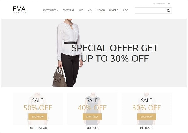 Ecommerce Templates of MotoCMS - clothes store