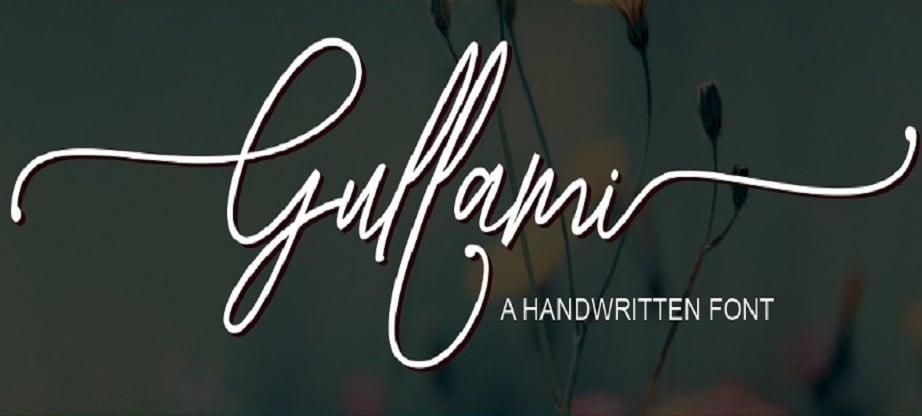 handwritten fonts 2017 examples - Gullami
