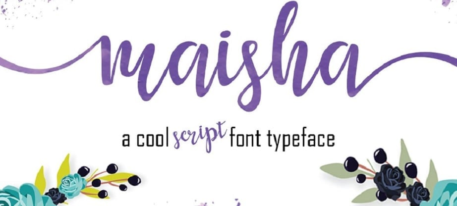 Maisha handwritten fonts 2017