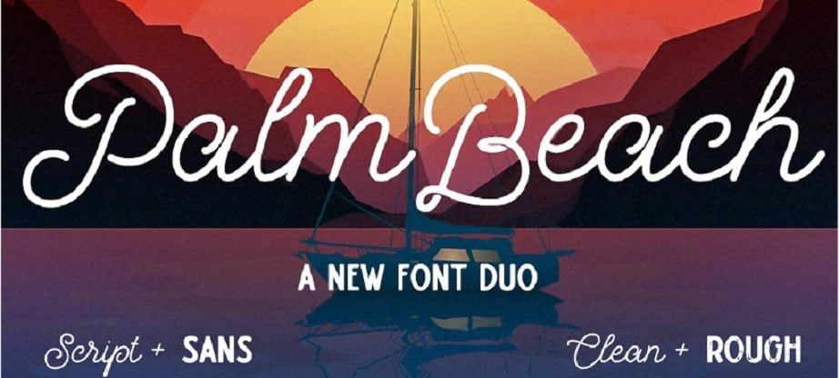 best handwritten fonts Palm Beach