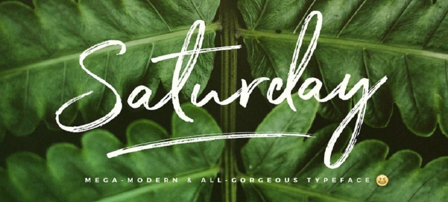 Best handwritten fonts - Saturday