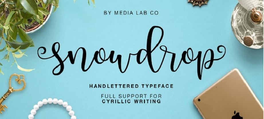 Snowdrop - Best Handwritten Fonts 2017
