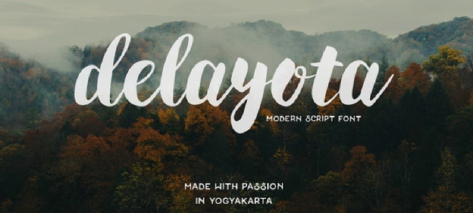 delayota handwritten fonts 2017