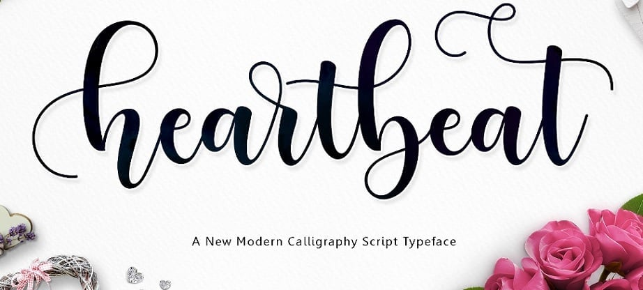 heartbeat handwritten fonts 2017