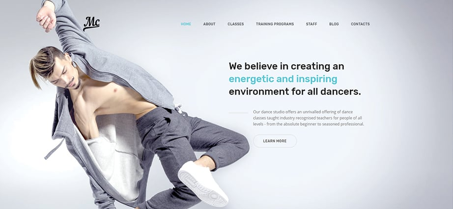 Best education website design - dance studio
