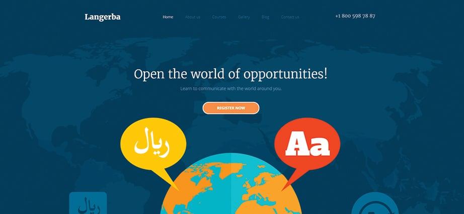 Best education website design - langebra