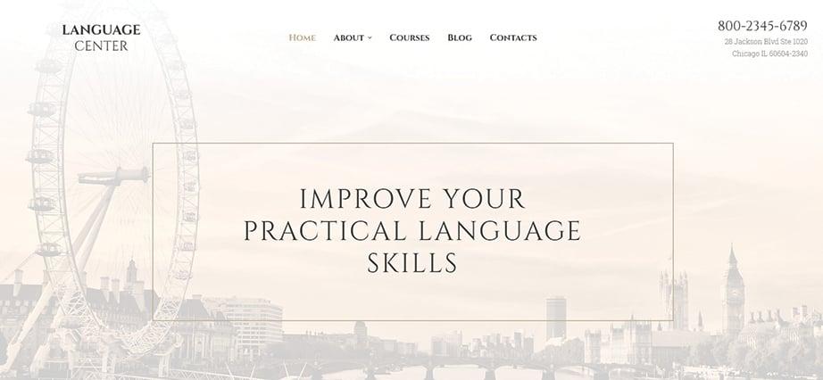 Best education website design - language center