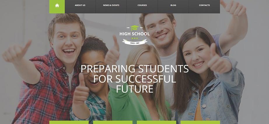 Best education website design - high school
