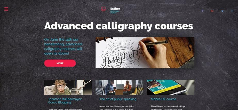 Best education website design - online education