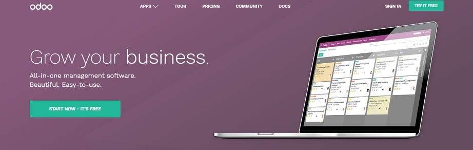 Best website builders for eCommerce 2017 - Odoo website