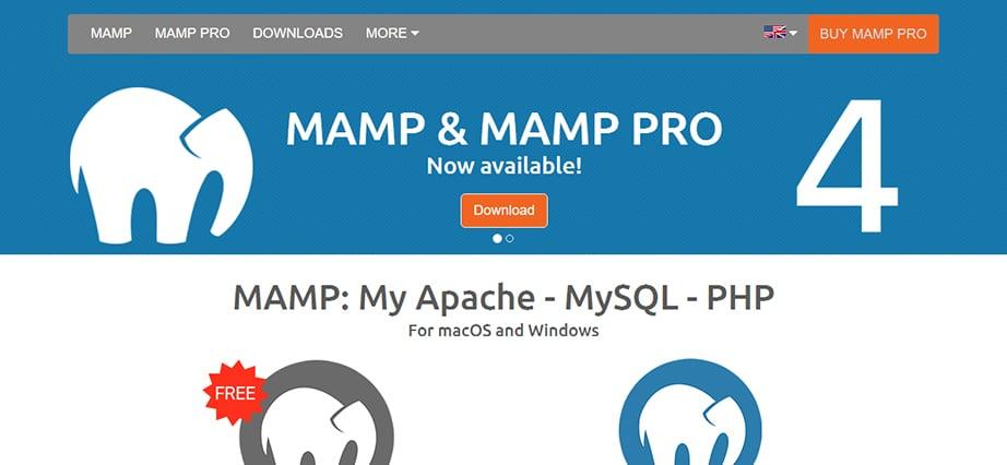 Free web design software for Mac - MAMP