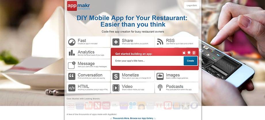 Phone apps - app makr
