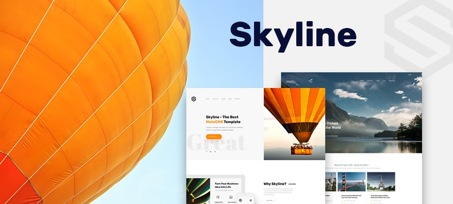 Skyline Business Template from MotoCMS - main