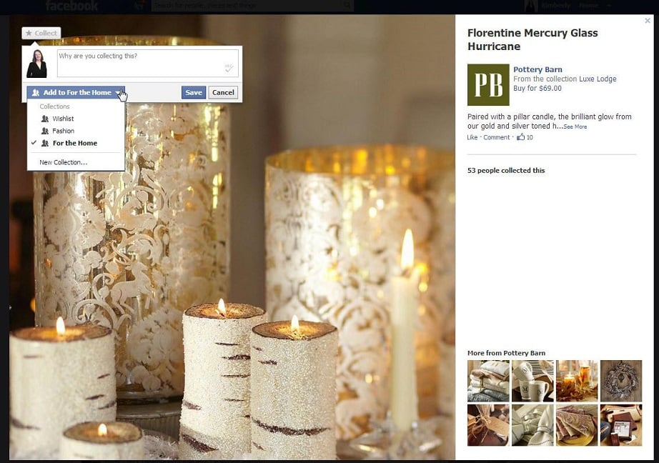 Pinterest trends - Facebook collections