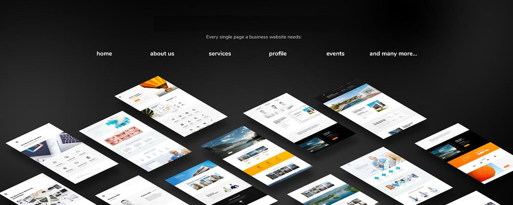 Skyline Business Website from MotoCMS - all pages
