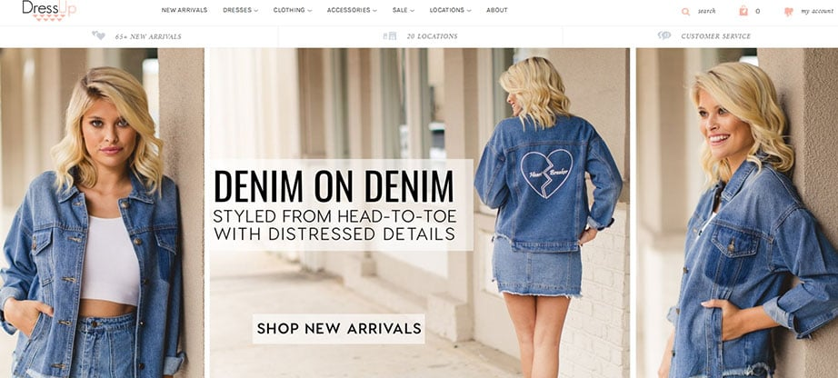sells clothing online